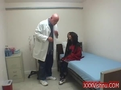 Naughty indian babe hard fucked by the doctor