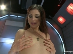 Gold Strike Hot New Brunette Co ed FUCKED by Machines