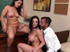 Gracie Glam & Kendra Lust & Daniel Hunter in My First Sex Teacher