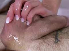 Massage Rooms Horny blonde takes big British cock in her shaved pussy