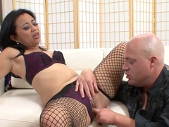 Horny pornstar Lucky Starr in best swallow, asian sex movie