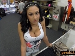 Big titty amateur latina turns into a slut for some cash