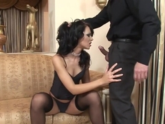 Horny pornstar Jenna Lovely in best group sex, stockings porn scene