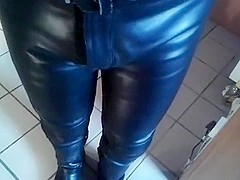 leather pants piss