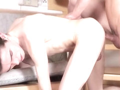 Taking his horny mates bare cock
