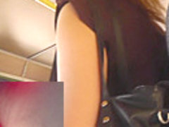 Lonely MILF got caught in usual public voyeur upskirt