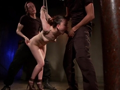 Fabulous fetish porn scene with crazy pornstars Mickey Mod, Juliette March and Owen Gray from Dung.