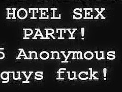 THE ULTIMATE HOTEL SEX PARTY! 5 ANONOMOUS GUYS FUCK!