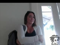 Plump slut with huge tits masturbates on webcam