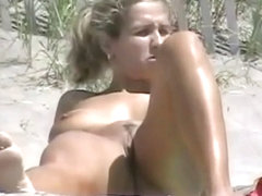 Exposed Beach - Cute Large Boob Golden-Haired
