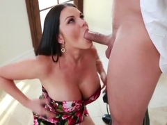 Big ass brunette wife Mackenzee Pierce sucking the cock of Mick Blue and fucks