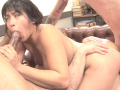 Jailhouse Cock Slut: Judge Mia Li Double Stuffed - HardcoreGangbang