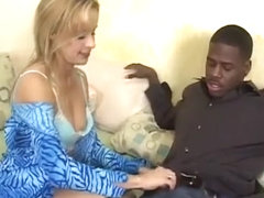 Filthy MILF Peyton Leigh devours every inch of a stiff black pole