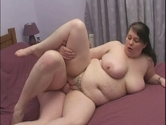 British big beautiful woman acquires team-fucked on a squeaky sofa!
